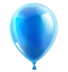 Blue birthday or party balloon vector