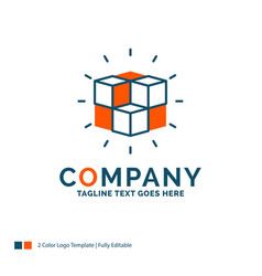 Box labyrinth puzzle solution cube logo design vector