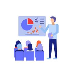 businessman giving a presentation vector image