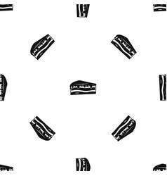 Cake pattern seamless black vector