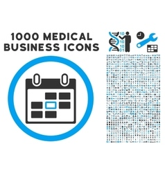 Calendar Day Icon with 1000 Medical Business vector