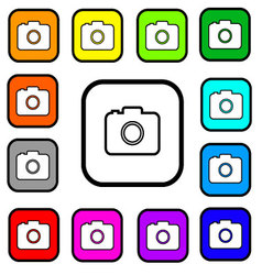 Camera Square Icons vector