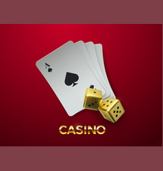 casino or gambling concept vector image