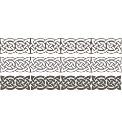 Celtic knot braided frame border ornament vector