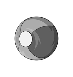 Childrens ball icon black monochrome style vector