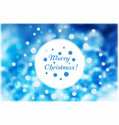 christmas snowflakes around round white frame on vector image