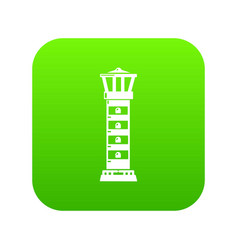 Coast beacon icon green vector