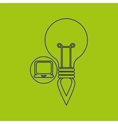 Creativity idea business laptop digital vector