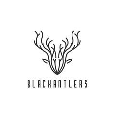 deer head logo design vector image