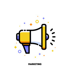 digital media marketing icon with megaphone vector image