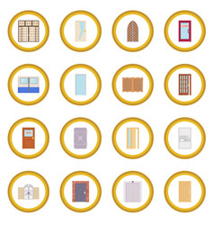 Door icon circle vector