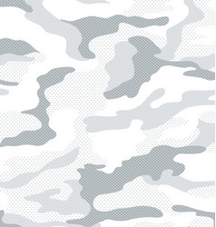 Dot pattern camouflage in white vector