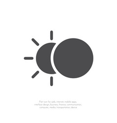 eclipse icon flat design 11 vector image