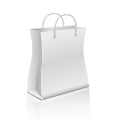 Empty paper shopping bag isolated on white vector image