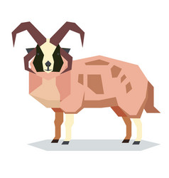 Flat geometric jacob sheep vector
