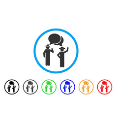 gentlemen chat rounded icon vector image