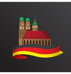 German symbol Towers of vector image