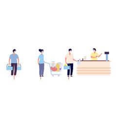 grocery store queue global coronavirus covid19 19 vector image