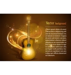 Guitar in fire music vector image