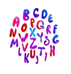 Hand drawn latin alphabet vector