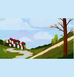 Idyllic rural landscape vector