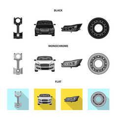Isolated object of auto and part sign collection vector