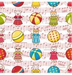 Kid toy seamless pattern design element vector