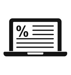 Laptop tax regulation icon simple style vector