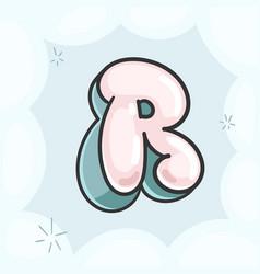 Letter r bubble vector