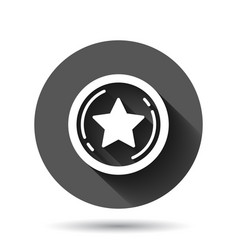 Loyalty icon in flat style reward on black round vector