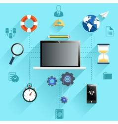 Management work process icon set vector image