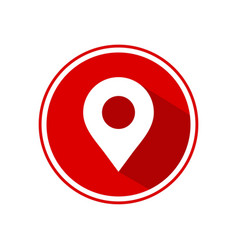 map pin icon concept for logo element vector image