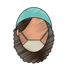 Medical professional face vector
