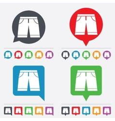 Mens Bermuda shorts sign icon Clothing symbol vector image