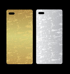 Metal phone case template cover phone or case vector