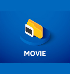 movie isometric icon isolated on color background vector image