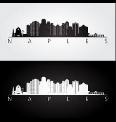 Naples usa skyline and landmarks silhouette vector