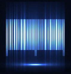 neon barcode isolated on white background vector image