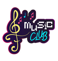 neon music club music note background image vector image