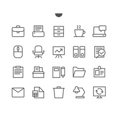 Office outlined pixel perfect well-crafted vector