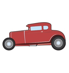 Old hot rod vector