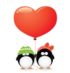 Penguin Love vector image