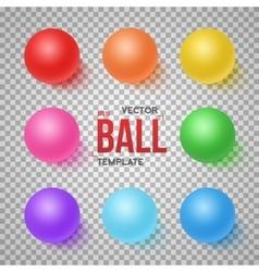 Photorealistic 3D Ball Set Template Bright vector