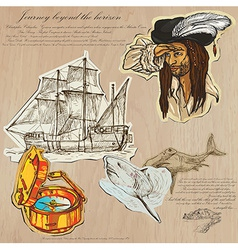 Pirates - journey beyond horizon vector