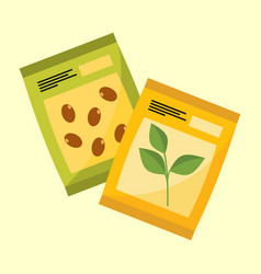 plant seeds product graphic vector image