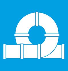 playground slider water tube icon white vector image