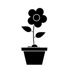 pot flower garden pictogram vector image