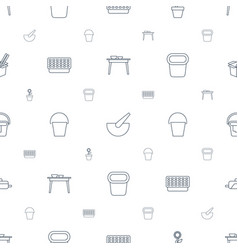 Pot icons pattern seamless white background vector