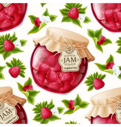 Raspberry jam seamless pattern vector image