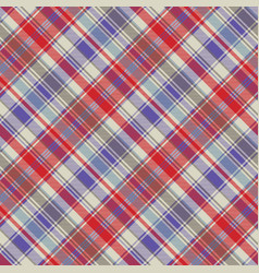 Red plaid tartan fabric texture seamless pattern vector